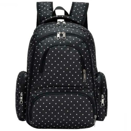 waterproof travel diaper backpack with changing pad