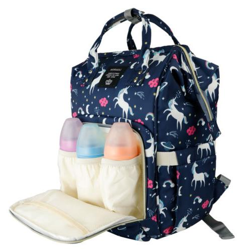 Diaper Bag Capacity Unicorn Baby Travel Bookbag Girl