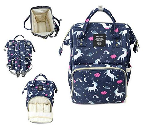 wide open diaper bag backpack