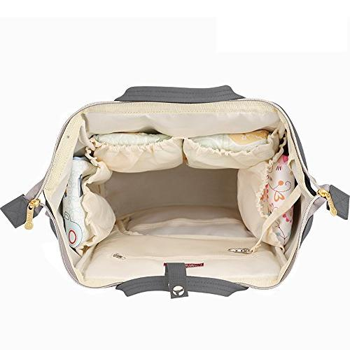 Wide Diaper Backpack Bag, w/Insulated Pockets