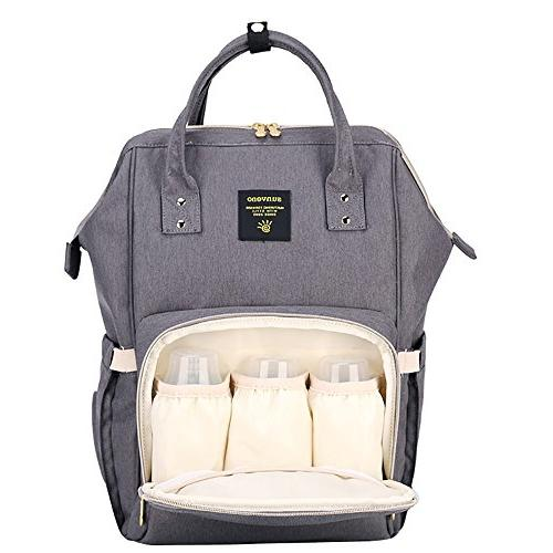 Wide Bag, Nappy Tote w/Insulated