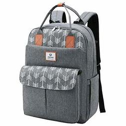 Lekebaby Large Diaper Bag Backpack with Changing Pad and Str