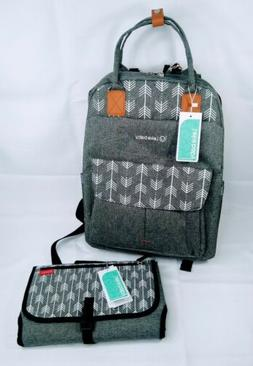 Lekebaby Large Diaper Bag Backpack with Changing Pad