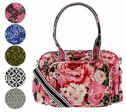 Lou Harvey Large Multi-Function Printed Cross body Travel Di