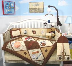 SoHo Let's Play Game Baby Crib Nursery Bedding Set 13 pcs in