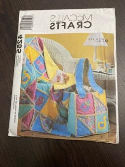 McCalls Crafts Pattern 4255 Rag Quilt & Diaper Bag Jennifer