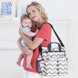 Skip Hop Messenger Diaper Bag With Matching Changing Pad,Duo