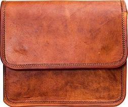 Urban Leather 9 Inch Small Passport Messenger Bag Purse for