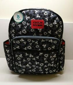 Disney Mickey Mouse Toss Head Print Backpack Diaper Bag Blac