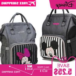 Micky Mouse Diaper Bag And Backpack For Mommy And Baby And T