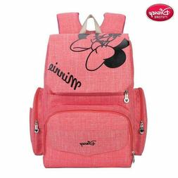 Disney  Minnie Mouse Diaper Bag  Maternity Nappy Backpack Fo