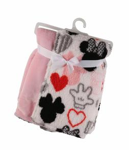 Disney Minnie Mouse Flannel and Sherpa Double Sided Infant B