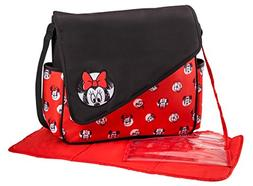 Disney Minnie Mouse Sketch Flap Messenger Diaper Bag, Red/Bl