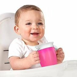 Munchkin Miracle 360 7oz Trainer Cup, BPA-Free, 2-Pack, Pink