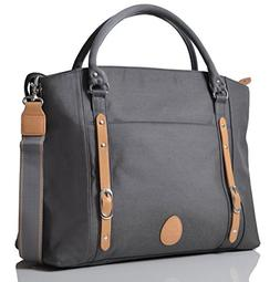 PacaPod Mirano Pewter Designer Baby Diaper Bag - Luxury Grey