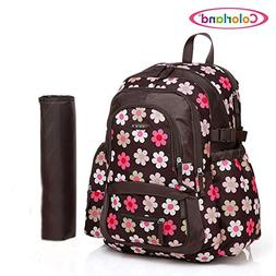 COLORLAND Fashion Mom Diaper Backpack Waterproof Polyester B