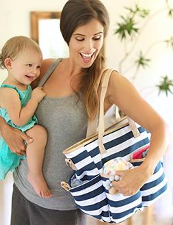 Mommy Baby Diaper Bag With Matching Changing Pad  Waterproof