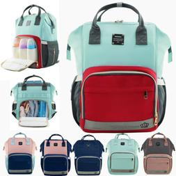 Lequeen Mommy Diaper Bag Backpack Large Capacity Baby Nappy