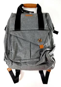 Hap tim Multi-function Large Baby Diaper Backpack Bag Gray