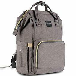 Multi-Function Waterproof Diaper Bag - Grey