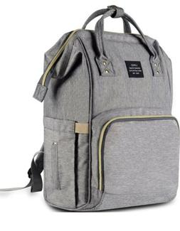 HaloVa Multi-Function Waterproof Diaper Bag - Grey
