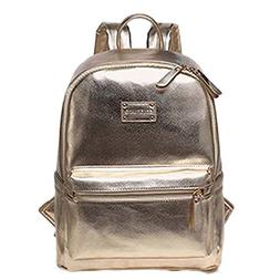COLORLAND Multi-functional Golden PU Mummy Backpack for Shop