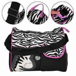 Multifunctional Zebra Pattern Baby Diaper Nappy Changing Bag
