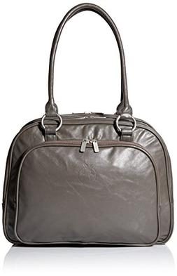 Lassig Multizip Style Diaper Shoulder Bag with Matching Bott