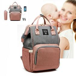 LEQUEEN Mummy Maternity Baby Nappy Diaper Bag Large Travel U