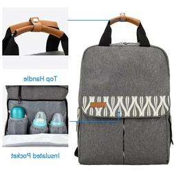 Lekebaby Nappy Backpack Bag for Mom with Changing Pad and St