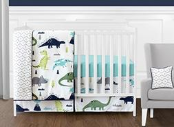 Sweet Jojo Designs 11-Piece Navy Blue and Green Modern Dinos