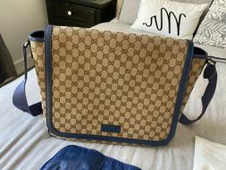 new and authentic gg canvas diaper bag