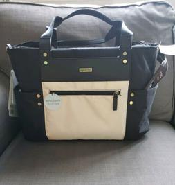 NEW JJ Cole Arrington diaper bag Onyx /Ivory