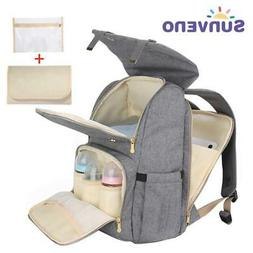 SUNVENO New Fashion Diaper Bag Backpack Large Capacity Baby