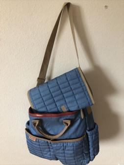 Maman New York Tote Diaper Bag Quilted Blue  Classic W/ Chan