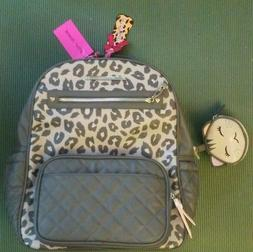 NWT Betsey Johnson Diaper bag Backpack leopard w/ changing p
