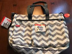 NWT Skip Hop Duo Double Signature Diaper Bag w/ changing pad