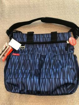 NWT Skip Hop Duo Signature Diaper Bag Blue Sketch Stroller S