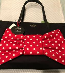 NWT Kate Spade Bethany Disney Minnie Mouse Bow Baby Diaper T