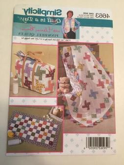 Simplicity Pattern Baby Quilt Diaper Bag Changing Pad Quilt