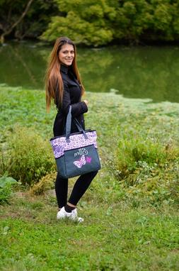 Personalized 4 in 1 BABY Diaper Bag set Purple Butterfly Cus