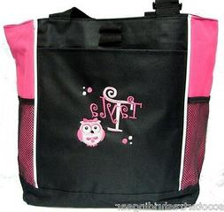 PERSONALIZED Girl Owl Pink Diaper Bag baby Tote beach book m