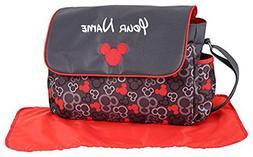Personalized Disney Mickey Mouse Grey and Red Icon Baby Diap