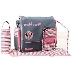 Personalized Disney Minnie Mouse Chevron Print Baby Duffel D