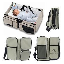 Travel Portable Bassinet 3 in 1 Diaper Bag Travel Baby Bed a