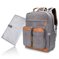 Leotruny Portable Baby Cloth Backpack Large Diaper Bag