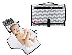 Obecome Portable Waterproof Baby Diaper Changing Pad Kit, Tr