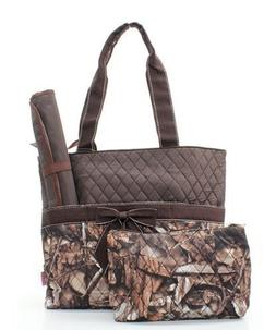 quilted bnb camo diaper bag