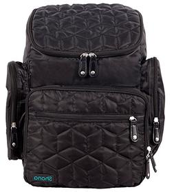 Shona Quilted 5 Piece Diaper Bag Backpack Set, Dry bag and c
