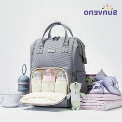 Sunveno Quilted Diaper Bag Large Maternity Nursing Nappy Bag